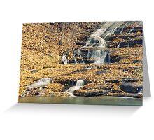 Buttermilk Falls Detail Greeting Card