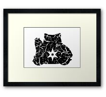 Pokemon snorlax normal fracture Framed Print