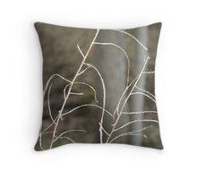 Singled Out Weeds Throw Pillow
