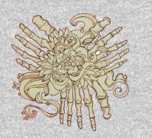 """""""Petals"""" Foot Bones and Flora Illustration Kids Clothes"""