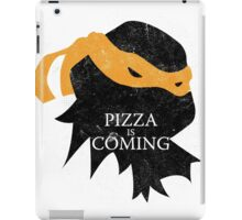 Pizza is Coming - Sticker/Cases/Pillow/Print on White iPad Case/Skin