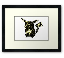 Pokemon Pikachu electric fracture Framed Print