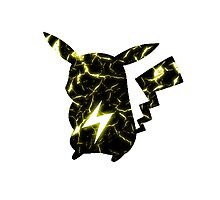 Pokemon Pikachu electric fracture Photographic Print