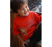 young asian boy Photographic Print