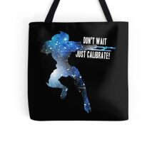 Mass Effect Silhouettes, Garrus - Don't Wait, Just Calibrate! Tote Bag