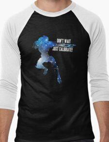 Mass Effect Silhouettes, Garrus - Don't Wait, Just Calibrate! Men's Baseball ¾ T-Shirt
