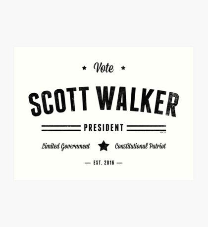 Vote Scott Walker Art Print