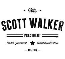 Vote Scott Walker Photographic Print