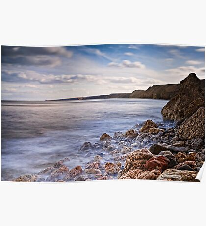 Simple Coastal View, North East - UK Poster