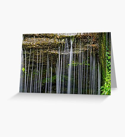 Rexford Falls - Summer - Detail Greeting Card