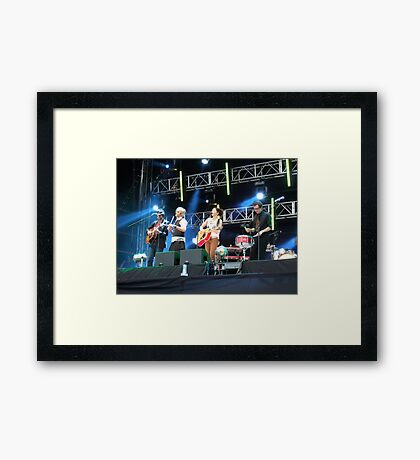 KT Tunstall Live with band Framed Print