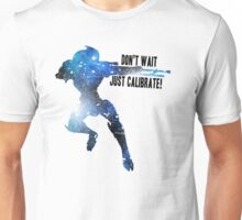 Mass Effect Silhouettes, Garrus - Don't Wait, Just Calibrate! Unisex T-Shirt
