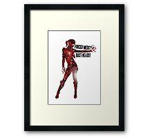 Mass Effect Silhouettes, Jack - Forced Meds? Bust Heads! Framed Print