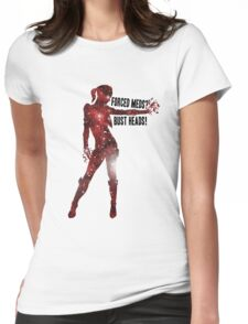 Mass Effect Silhouettes, Jack - Forced Meds? Bust Heads! Womens Fitted T-Shirt