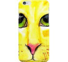 Cat In Orange iPhone Case/Skin