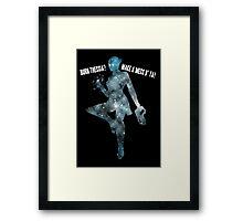 Mass Effect Silhouettes, Liara - Burn Thessia? Make a Mess o' Ya! Framed Print