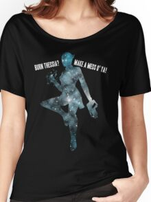 Mass Effect Silhouettes, Liara - Burn Thessia? Make a Mess o' Ya! Women's Relaxed Fit T-Shirt