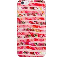 Pink Watercolor Rose Floral Brush Stroke Stripes iPhone Case/Skin