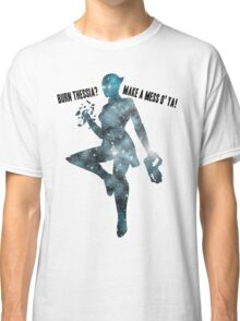 Mass Effect Silhouettes, Liara - Burn Thessia? Make a Mess o' Ya! Classic T-Shirt