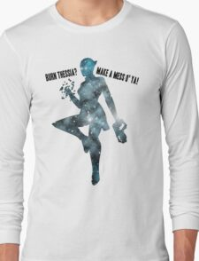 Mass Effect Silhouettes, Liara - Burn Thessia? Make a Mess o' Ya! Long Sleeve T-Shirt