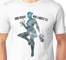 Mass Effect Silhouettes, Liara - Burn Thessia? Make a Mess o' Ya! Unisex T-Shirt