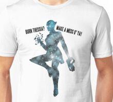 Mass Effect Silhouettes, Liara - Burn Thessia? Make a Mess o' Ya! Unisex T-Shirt