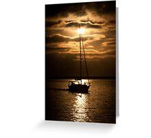 Sun Set Sail Greeting Card