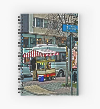 Street food stall in Istanbul Spiral Notebook