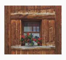 Wooden Window and Geraniums Kids Clothes