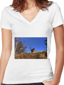 On The Ridge!!! Women's Fitted V-Neck T-Shirt