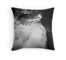the blue eye bird of pray Throw Pillow