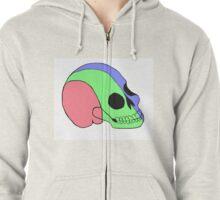 Tri-Colored Skull Zipped Hoodie