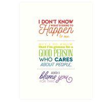Thank you, Mr. Feeny. Art Print