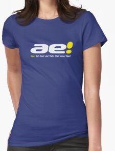 Yes, si, oui, ae... for blue and green backgrounds... Womens Fitted T-Shirt