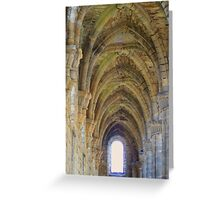 Through The Arched Window Greeting Card