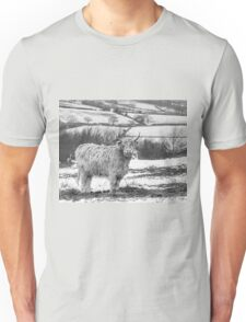 Highland Cow In The Snow Unisex T-Shirt