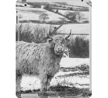 Highland Cow In The Snow iPad Case/Skin