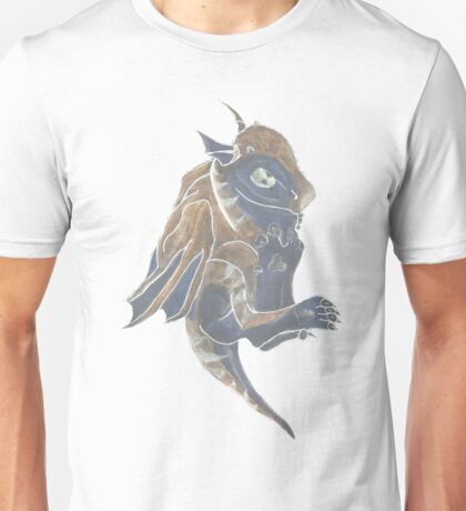Baby dragon stone carving Unisex T-Shirt