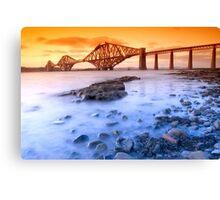 The Forth Rail Bridge at sunset  Canvas Print
