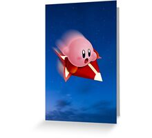 Kirby Rides in the Night Greeting Card