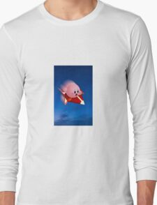 Kirby Rides in the Night Long Sleeve T-Shirt