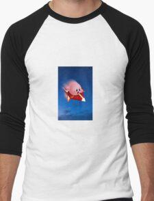 Kirby Rides in the Night Men's Baseball ¾ T-Shirt