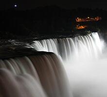 Niagara falls white mist by bhavindalal