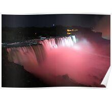 Niagara falls pink Poster