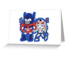 Optimus Prime and Prowl Greeting Card