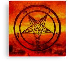Satanism by Sarah Kirk Canvas Print