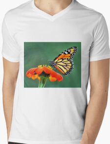 Monarch on a Mexican Sunflower Mens V-Neck T-Shirt