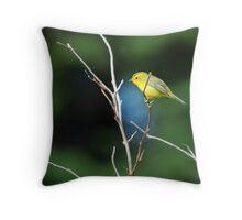 Wittle Wilson's Warbler Throw Pillow