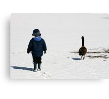 Chase and the goose Canvas Print