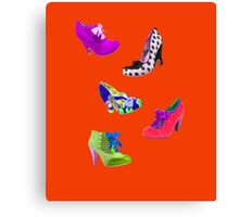 shoes, shoes and more shoes Canvas Print